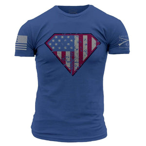Grunt Style Men's T-Shirt S / Blue Super Patriot T-Shirt