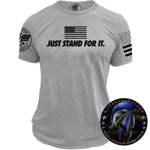 Relentless Defender Men's T-Shirt S / Gray Just Stand For It T-Shirt