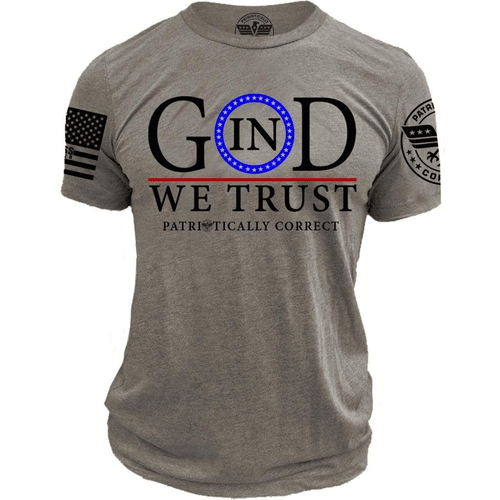 Relentless Defender Men's T-Shirt S / Grey In God We Trust