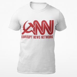 Right Wing Gear Men's T-Shirt S / White Corrupt News Network Cotton Tee Shirt (3 Variants)