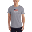 Load image into Gallery viewer, American Patriots Apparel Men's T-Shirt Slate / XS God Bless America Distressed American Flag Short Sleeve T-Shirt (16 Variants)