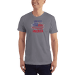 Load image into Gallery viewer, American Patriots Apparel Men's T-Shirt Slate / XS God Bless America Distressed Flag T-Shirt (13 Variants)