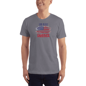 American Patriots Apparel Men's T-Shirt Slate / XS God Bless America Distressed Flag T-Shirt (13 Variants)
