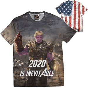 Print Brains Men's T-Shirt Thanos 2020 Is Inevitable Tee / Black / XS Thanos 2020 Is Inevitable Tee