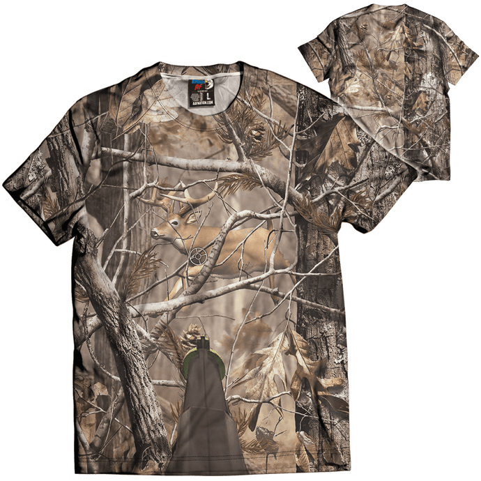 Print Brains Men's T-Shirt Unreal Tree: Big Buck Hunter / Military Green / XS Unreal Tree: Big Buck Hunter