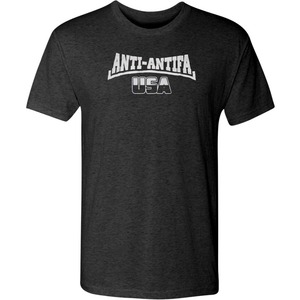 American Patriots Apparel Men's T-Shirt Vintage Black / Small Unisex Next Level Triblend Anti-Antifa USA T-Shirt (6 Variants)