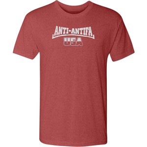 American Patriots Apparel Men's T-Shirt Vintage Red / X-Large Unisex Next Level Triblend Anti-Antifa USA T-Shirt (6 Variants)