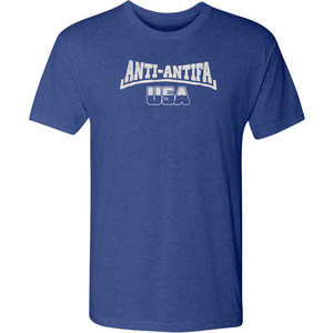 American Patriots Apparel Men's T-Shirt Vintage Royal / Medium Unisex Next Level Triblend Anti-Antifa USA T-Shirt (6 Variants)