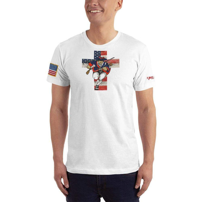American Patriots Apparel Men's T-Shirt White / XS American Patriots for God and Country Cross Logo 'Merica Tee (14 Variants)