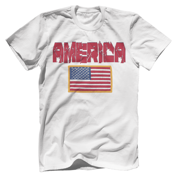 AMERICA Hulk Font Official Army Flag Tee (6 Variants)