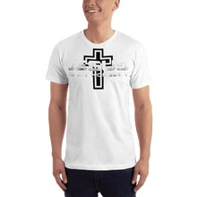 Load image into Gallery viewer, American Patriots Apparel Men's T-Shirt White / XS Jesus Is My Homeboy Black Cross T-Shirt (13 Variants)