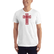 Load image into Gallery viewer, American Patriots Apparel Men's T-Shirt White / XS Red and White Cross T-Shirt (13 Variants)