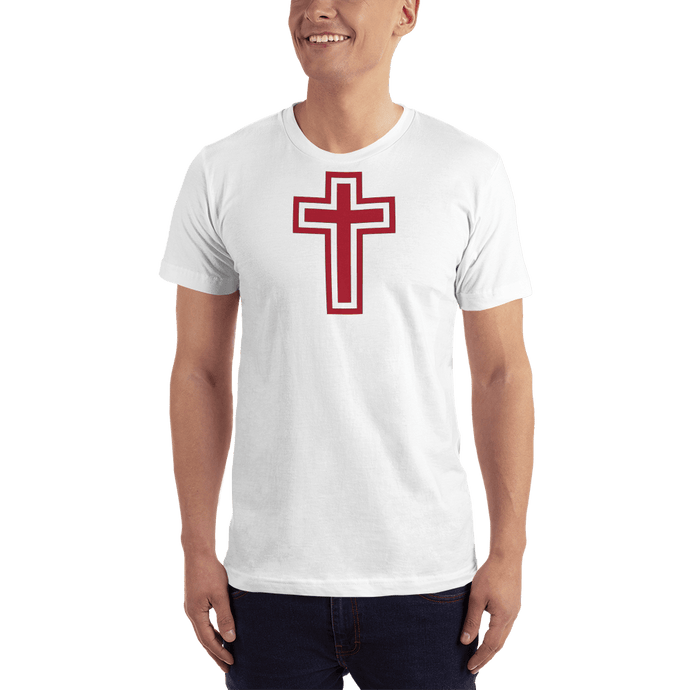 American Patriots Apparel Men's T-Shirt White / XS Red and White Cross T-Shirt (13 Variants)
