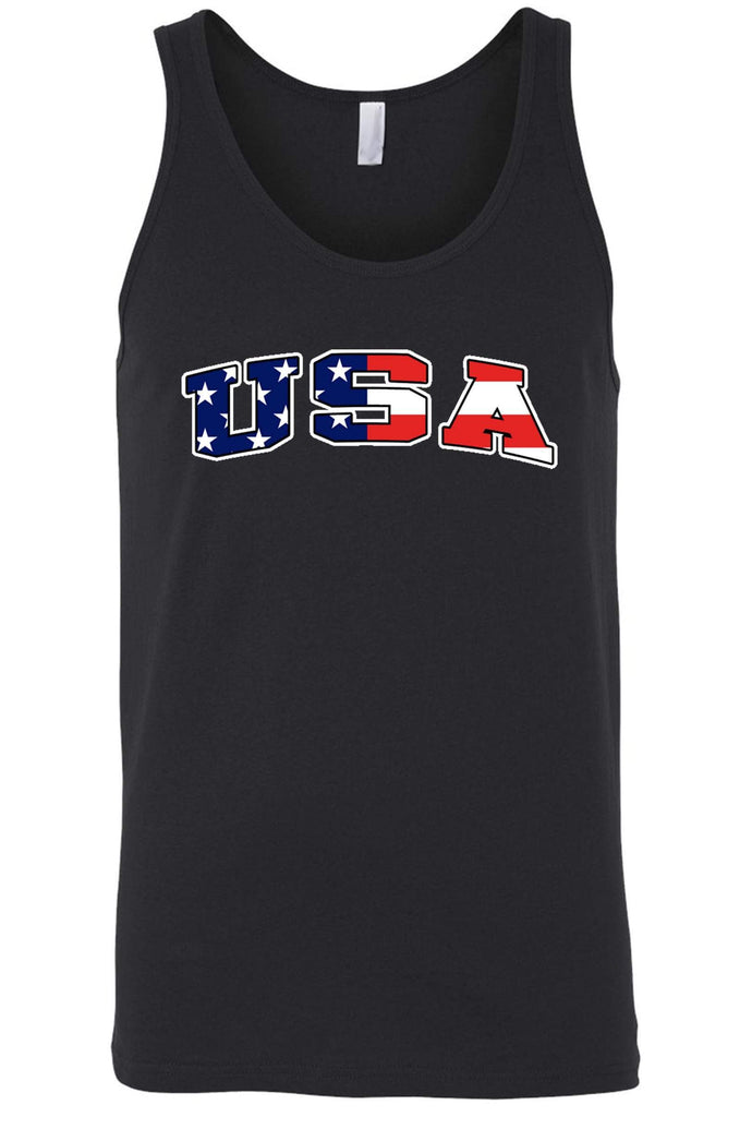 American Patriots Apparel Men's Tank Top BLACK / Medium Unisex USA Flag Tank Top Shirt American Pride (8 Variants)
