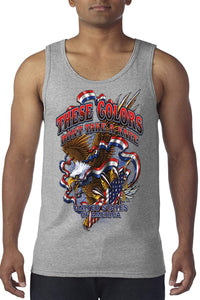 American Patriots Apparel Men's Tank Top Gray / MEDIUM / FRONT These Colors Don't Take A Knee Tank Top (8 Variants)
