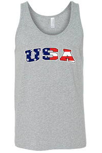 American Patriots Apparel Men's Tank Top GREY / Small Unisex USA Flag Tank Top Shirt American Pride (8 Variants)