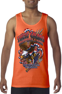 American Patriots Apparel Men's Tank Top Orange / SMALL / FRONT These Colors Don't Take A Knee Tank Top (8 Variants)