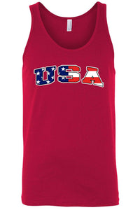American Patriots Apparel Men's Tank Top RED / 3XL Unisex USA Flag Tank Top Shirt American Pride (8 Variants)