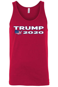 American Patriots Apparel Men's Tank Top Red / XXL Trump 2020 USA Flag Map Tank-Top (7 Variants)
