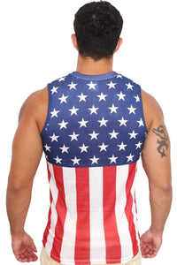 American Patriots Apparel Men's Tank Top USA Flag Men's Sleeveless Shirt Crew Neck Tank Top