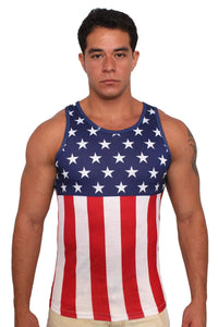 American Patriots Apparel Men's Tank Top USA Flag / XL USA Flag Men's Tank Top