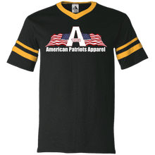 Load image into Gallery viewer, CustomCat Men's V-Neck T-Shirt Black/Gold / S American Patriots Apparel Wing Flag V-Neck Set-In Sleeves (12 Variants)