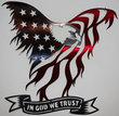 "Load image into Gallery viewer, Nashville Metal Art Metal Wall Art Red/White/Blue / 13"" American Flag - Eagle In God We Trust (5 Sizes)"