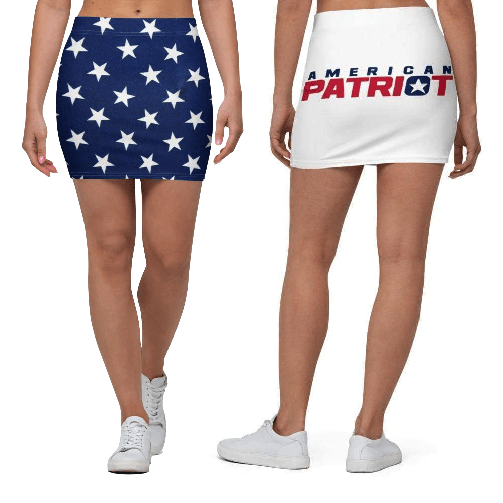 American Patriots Apparel Mini Skirt XS American Flag Star Patriot Mini Skirt