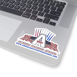 "Printify Paper products 4"" × 4"" / White American Patriots Apparel Sticker (4 Sizes)"