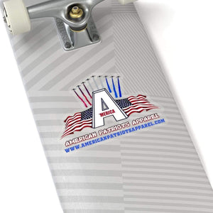 "Printify Paper products 6"" × 6"" / Transparent American Patriots Apparel Sticker (4 Sizes)"