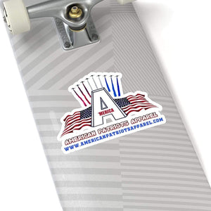 "Printify Paper products 6"" × 6"" / White American Patriots Apparel Sticker (4 Sizes)"