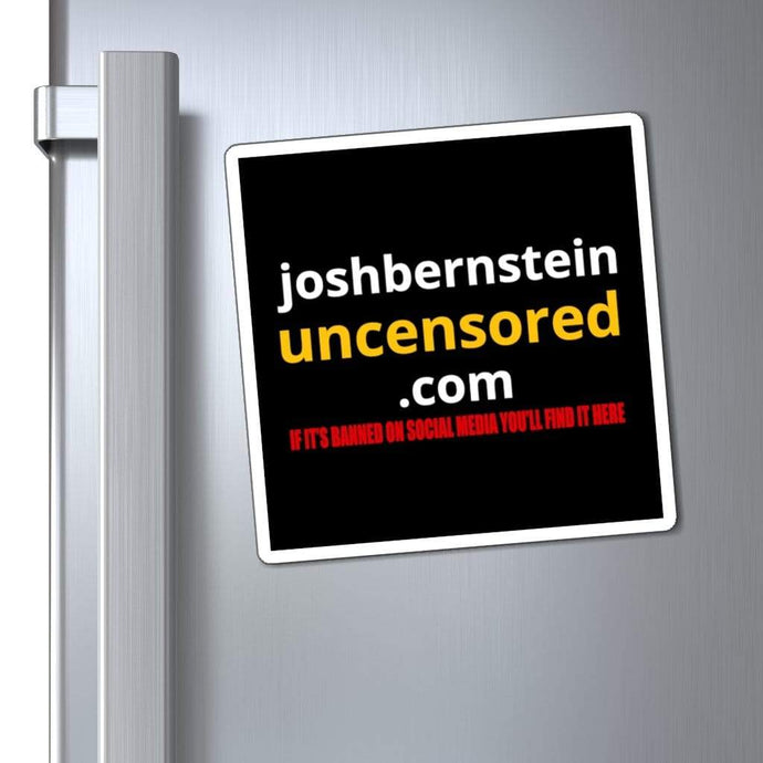 Printify Paper products joshbersnteinuncensored.com Magnet (3 Sizes)