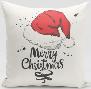 American Patriots Apparel Pillow Cover 12x16 / Multicolored Santa Hat Pillow Cover
