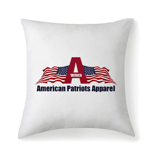 American Patriots Apparel Pillow Patriot Cross Microfiber Fabric Throw Square Pillow Case W/Optional Pillow Insert