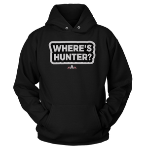 Print Brains Port & Co Core Fleece Hooded Sweatshirt / Black / S Where's Hunter? Hoodie (6 Variants)