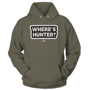 Print Brains Port & Co Core Fleece Hooded Sweatshirt / Military Green / S Where's Hunter? Hoodie (6 Variants)