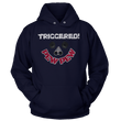 Load image into Gallery viewer, Print Brains Port & Co Core Fleece Hooded Sweatshirt / Navy / S Triggered Pew Pew Hoodie (6 Variants)