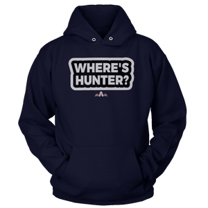 Print Brains Port & Co Core Fleece Hooded Sweatshirt / Navy / S Where's Hunter? Hoodie (6 Variants)