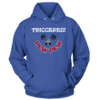 Load image into Gallery viewer, Print Brains Port & Co Core Fleece Hooded Sweatshirt / Royal Blue / S Triggered Pew Pew Hoodie (6 Variants)