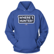 Load image into Gallery viewer, Print Brains Port & Co Core Fleece Hooded Sweatshirt / Royal Blue / S Where's Hunter? Hoodie (6 Variants)