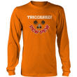 Load image into Gallery viewer, Print Brains Port & Co US Made Cotton Long Sleeve Crew / Neon Orange / S Triggered Pew Pew Long-Sleeve T-Shirt (8 Variants)