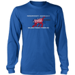Load image into Gallery viewer, Print Brains Port & Co US Made Cotton Long Sleeve Crew / Royal Blue / S Rampant Donkey Election Fraud 2020 Long-Sleeve (8 Variants)
