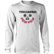 Load image into Gallery viewer, Print Brains Port & Co US Made Cotton Long Sleeve Crew / White / S Triggered Pew Pew Long-Sleeve T-Shirt (8 Variants)
