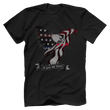 Load image into Gallery viewer, Print Brains Port & Co US Made Cotton Tee / Black / S In God We Trust Eagle T-Shirt (6 Variants)