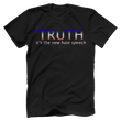 Load image into Gallery viewer, Print Brains Port & Co US Made Cotton Tee / Black / S TRUTH It's The New Hate Speech T-Shirt (6 Variants)