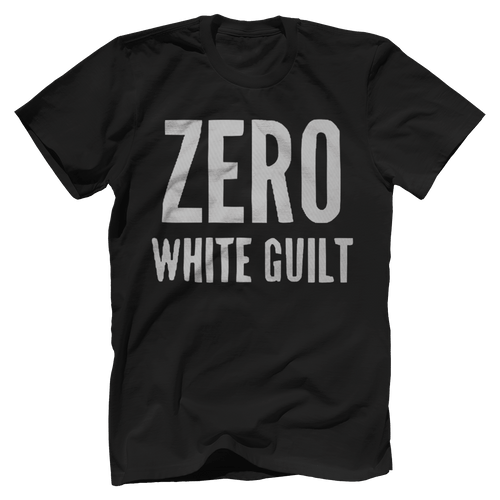Print Brains Port & Co US Made Cotton Tee / Black / S Zero White Guilt T-Shirt (6 Variants)