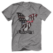 Load image into Gallery viewer, Print Brains Port & Co US Made Cotton Tee / Heather Gray / S In God We Trust Eagle T-Shirt (6 Variants)