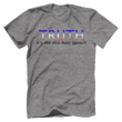 Load image into Gallery viewer, Print Brains Port & Co US Made Cotton Tee / Heather Gray / S TRUTH It's The New Hate Speech T-Shirt (6 Variants)