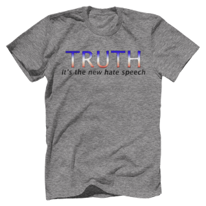 Print Brains Port & Co US Made Cotton Tee / Heather Gray / S TRUTH It's The New Hate Speech T-Shirt (6 Variants)