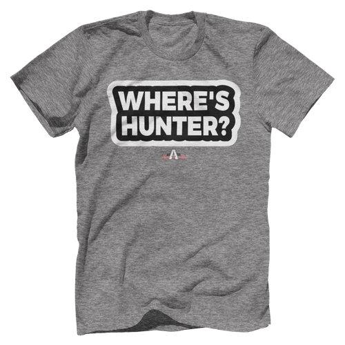 Print Brains Port & Co US Made Cotton Tee / Heather Gray / S Where's Hunter? T-Shirt (6 Variants)